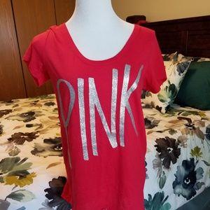 PINK Victoria's Secret Tops - PINK Victoria's Secret High Low T Shirt